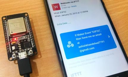 How to Trigger LED using IFTTT and ESP32 with Email Notification