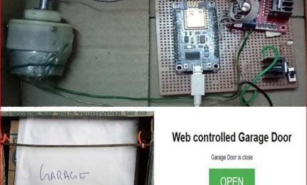 IoT Garage Door Opener using NodeMCU ESP12E
