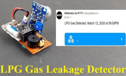 LPG Gas Leakage Detector using ESP8266 and Arduino