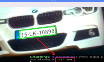 Real-Time License Plate Recognition using Raspberry Pi and Python