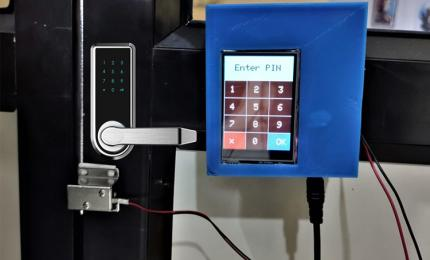 Touch Screen Solenoid Door Lock System using Arduino