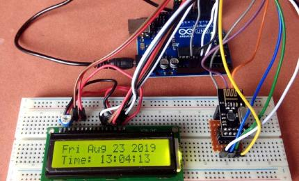 Wireless Communication between Arduino and NodeMCU using NRF24L01 Transceiver Module