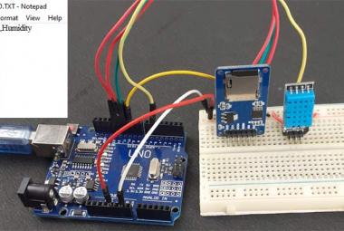 Arduino SD Card Data Logging using DHT11
