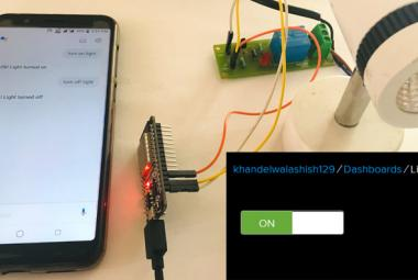 Google Assistant controlled Home Appliances using ESP32 and Adafruit IO