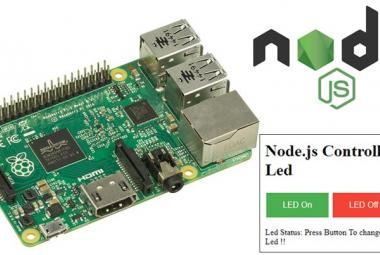 IoT Controlled Led using Node.js Web server and Raspberry Pi