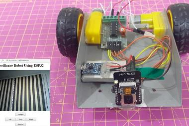 ESP32 CAM- Surveillance Robot using Arduino IDE