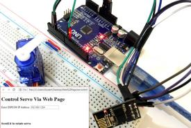 ESP8266 Based Webserver to Control Servo Motor from Webpage