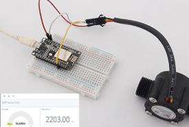 IoT Water Flow Meter using NodeMCU