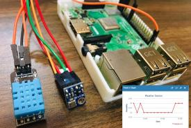 Raspberry Pi Weather Station using DHT11, BMP180 and ThingSpeak